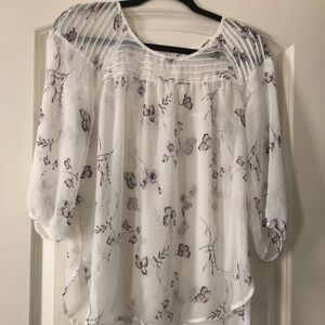 LC Lauren Conrad Sheer Butterfly 🦋 Blouse